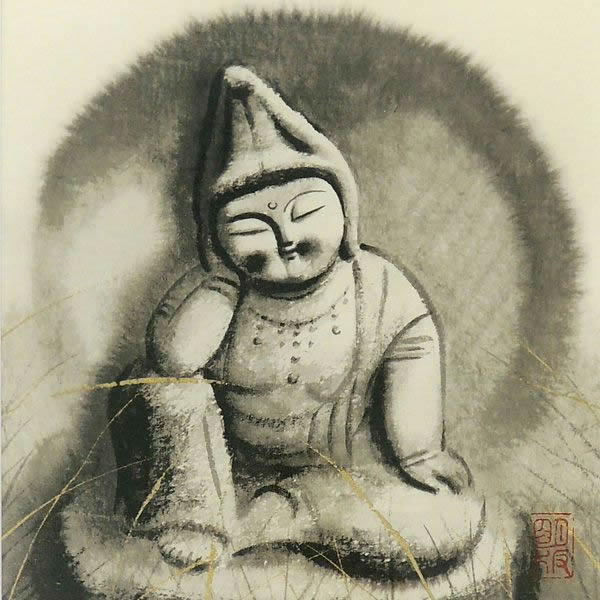 Japanese Jizo or Guardian Deity of Children paintings and prints by Akira AKIZUKI