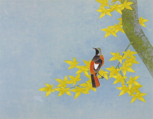 Japanese Bird paintings and prints by Atsushi UEMIURA
