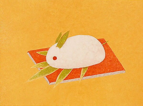 Japanese Rabbit or Hare paintings and prints by Atsushi UEMURA