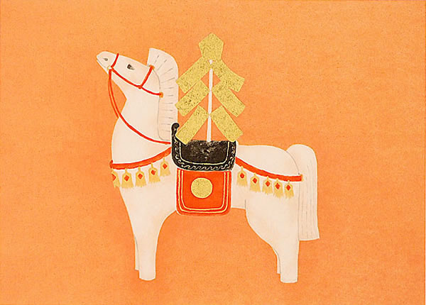 Japanese Horse paintings and prints by Atsushi UEMURA