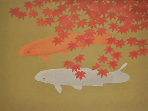 Japanese Maple or Autumn Colors paintings and prints by Chusaku OYAMA