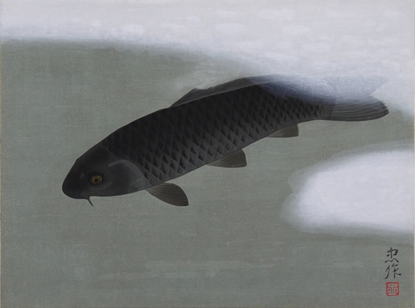 Japanese Carp paintings and prints by Chusaku OYAMA