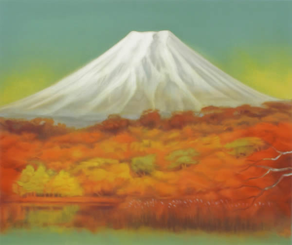 Japanese Fuji paintings and prints by Genso OKUDA