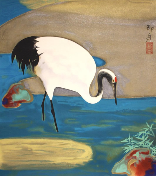 Japanese Pond paintings and prints by Gyoshu HAYAMI