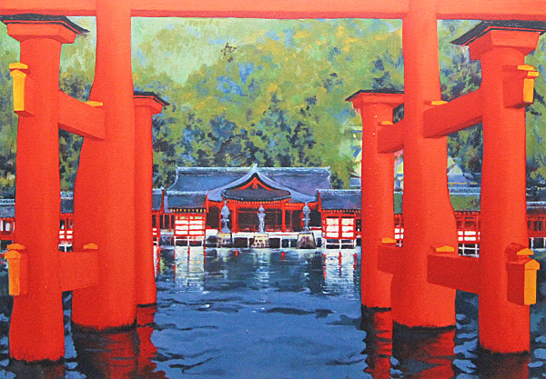 Japanese Shrine paintings and prints by Hiroshi OKUTANI