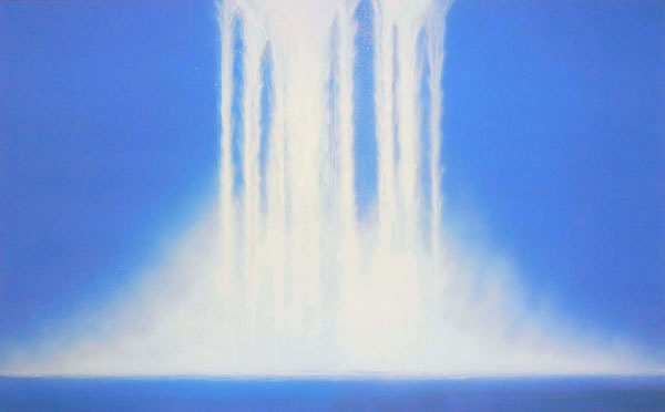 Japanese Waterfall paintings and prints by Hiroshi SENJU