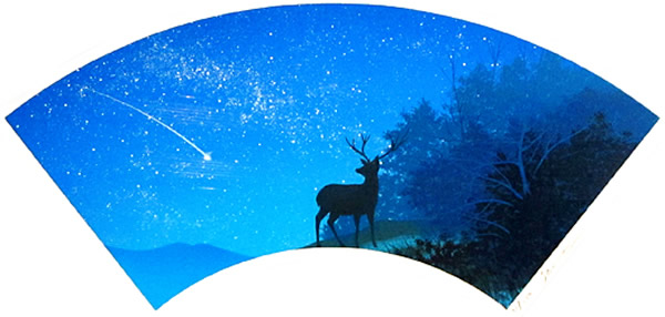 Japanese Deer paintings and prints by Hiroshi SENJU