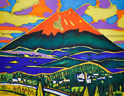 Japanese Fuji paintings and prints by Hirosuke TASAKI