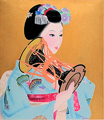 Japanese Music paintings and prints by Jun NAKAO