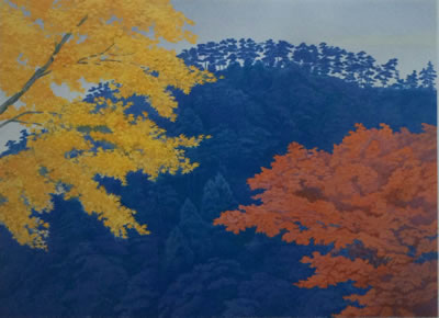 Japanese Maple or Autumn Colors paintings and prints by Kaii HIGASHIYAMA