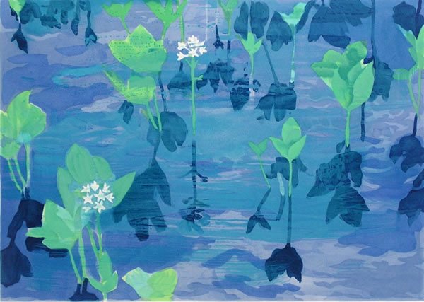 Japanese Swamp paintings and prints by Kaii HIGASHIYAMA
