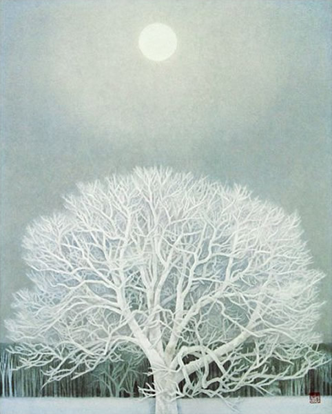 Japanese Snow paintings and prints by Kaii HIGASHIYAMA
