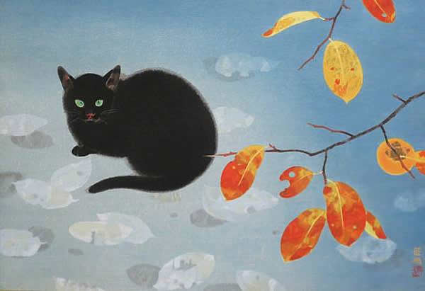 Japanese Maple or Autumn Colors paintings and prints by Kayo YAMAGUCHI