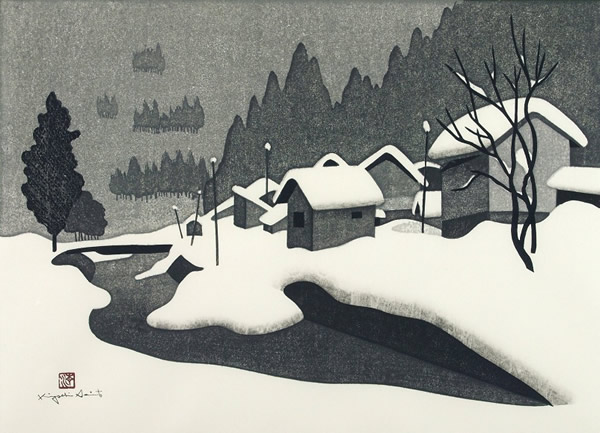 Japanese Snow paintings and prints by Kiyoshi SAITO