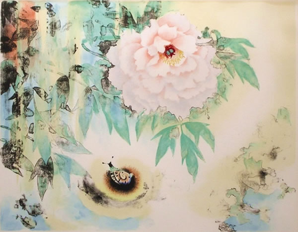 Japanese Peony paintings and prints by Kojin KUDO