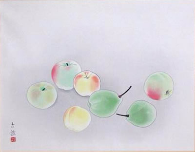 Japanese Fruit paintings and prints by Kokei KOBAYASHI