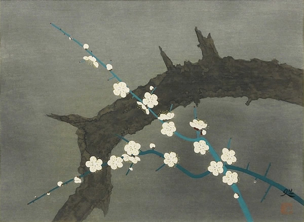 Japanese Plum Blossom paintings and prints by Matazo KAYAMA