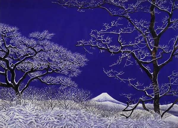 Japanese Snow paintings and prints by Reiji HIRAMATSU