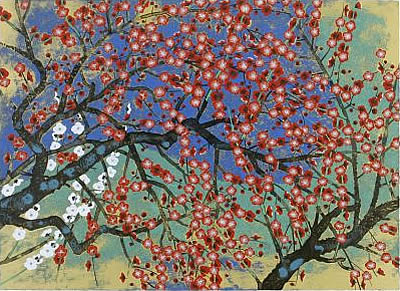 Japanese Plum Blossom paintings and prints by Reiji HIRAMATSU