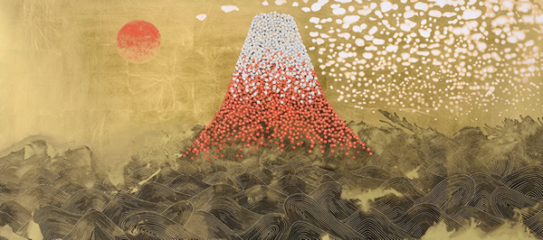 Japanese Wave paintings and prints by Reiji HIRAMATSU