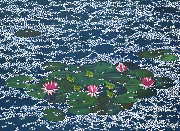 Japanese Water Lily paintings and prints by Reiji HIRAMATSU
