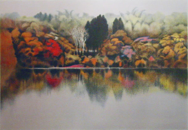 Japanese Lake paintings and prints by Reiji KUBO
