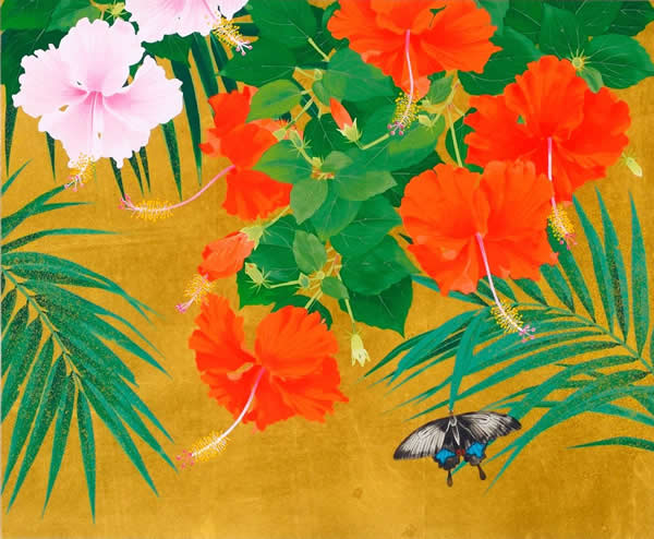 Japanese Butterfly or Moth paintings and prints by Rieko MORITA
