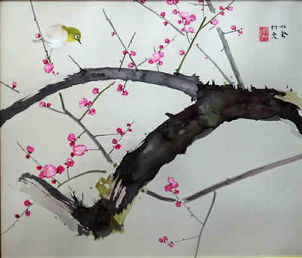 Japanese Plum Blossom paintings and prints by Seiho TAKEUCHI