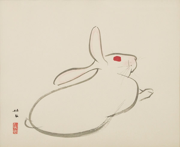 Japanese Rabbit or Hare paintings and prints by Seiho TAKEUCHI