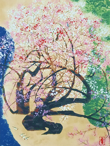 Japanese Plum Blossom paintings and prints by Seison MAEDA