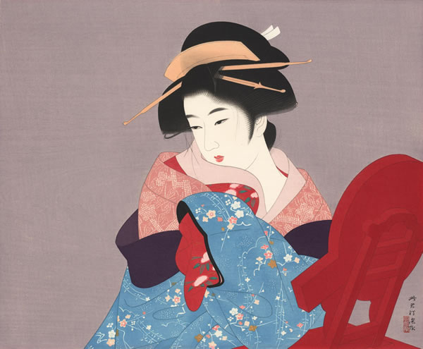 Japanese Bijin-ga or Beautiful Woman paintings and prints by Shinsui ITO
