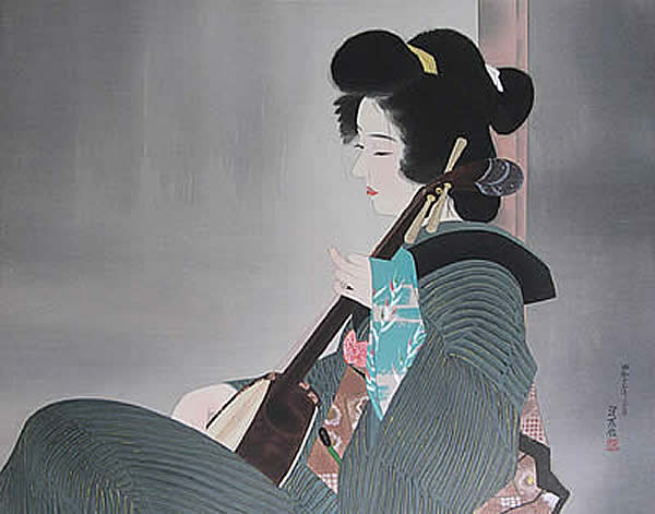Japanese Music paintings and prints by Shinsui ITO