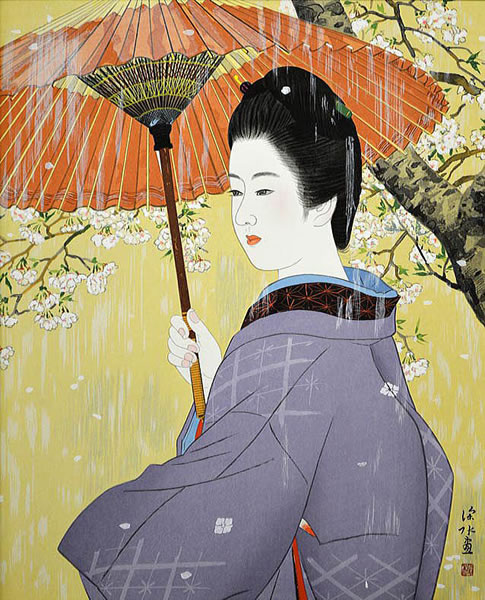 Japanese Rain paintings and prints by Shinsui ITO
