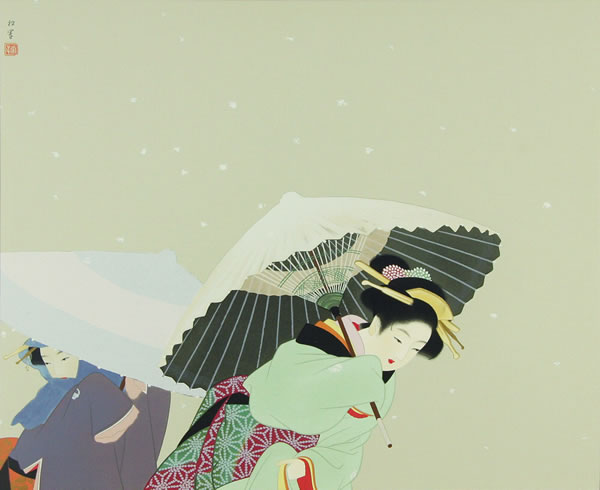 Japanese Snow paintings and prints by Shoen UEMURA