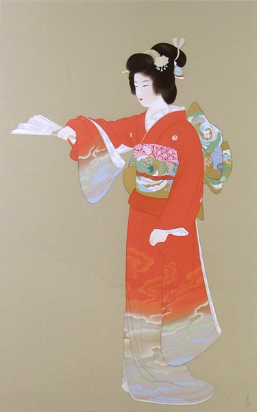Japanese Dance paintings and prints by Shoen UEMURA