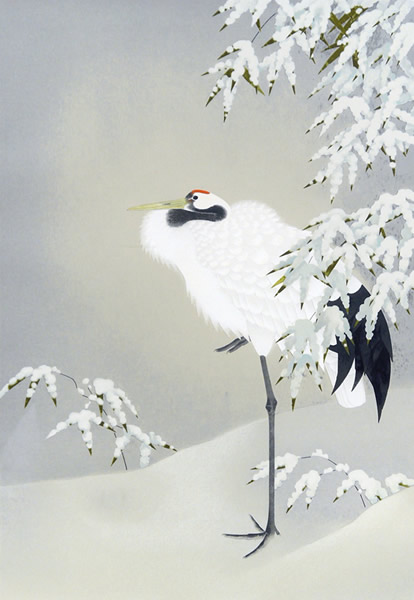 Japanese Snow paintings and prints by Shoko UEMURA