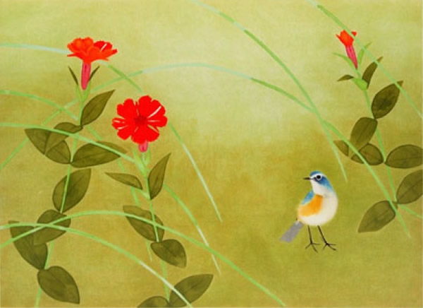 Japanese Bird paintings and prints by Shoko UEMURA
