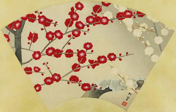 Japanese Plum Blossom paintings and prints by Shoko UEMURA