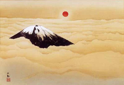 Japanese Fuji paintings and prints by Taikan YOKOYAMA