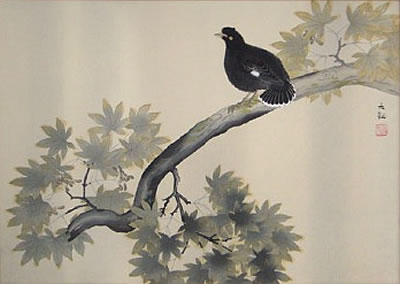 Japanese Bird paintings and prints by Taikan YOKOYAMA