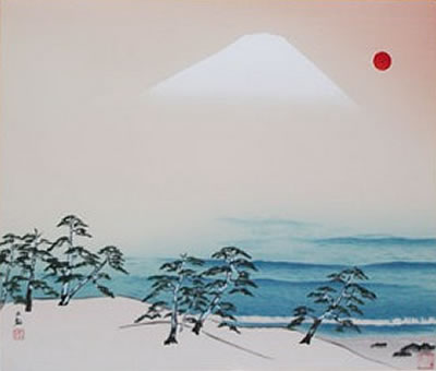 Japanese Wave paintings and prints by Taikan YOKOYAMA