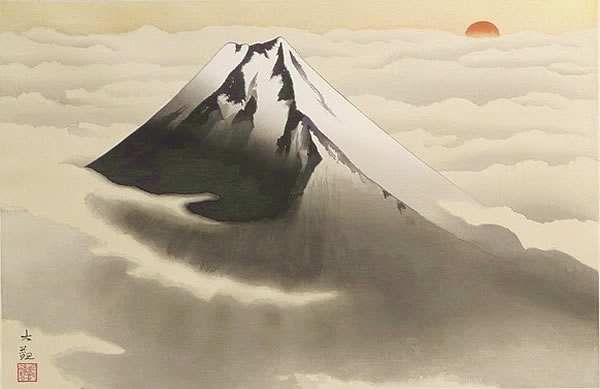 Japanese Sun paintings and prints by Taikan YOKOYAMA