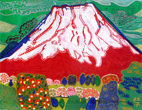 Japanese Fuji paintings and prints by Tamako KATAOKA