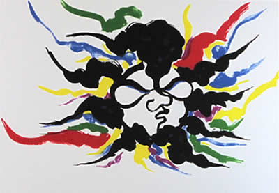 Japanese Abstract paintings and prints by Taro OKAMOTO