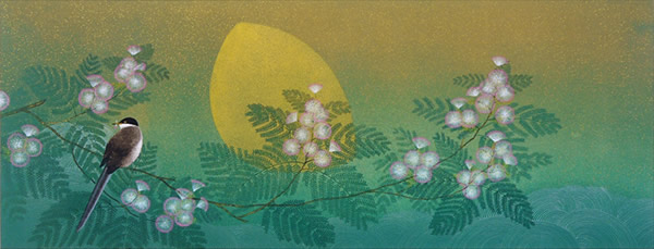 Japanese Wave paintings and prints by Tatsuya ISHIODORI