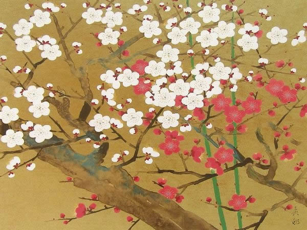 Japanese Plum Blossom paintings and prints by Tekison UDA