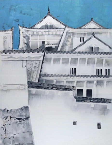 Japanese Castle paintings and prints by Togyu OKUMURA