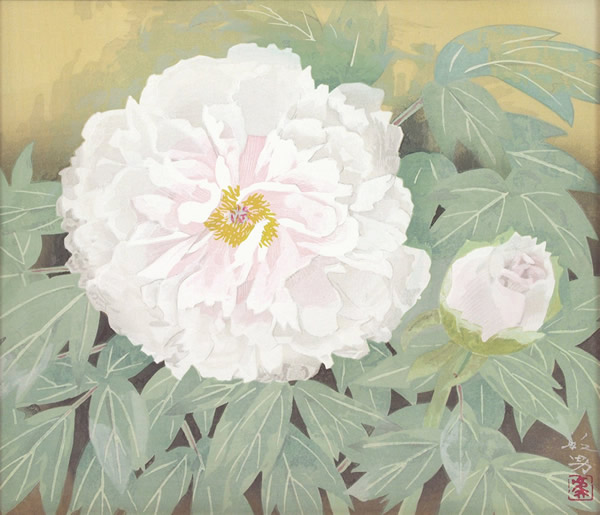 Japanese Peony paintings and prints by Toshio MATSUO