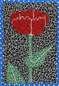 Japanese Floral or Flower paintings and prints by Yayoi KUSAMA
