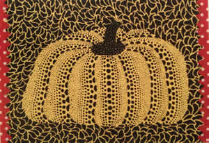'Pumpkin' lithograph, collage by Yayoi KUSAMA